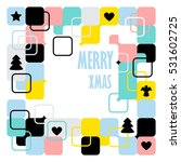merry christmas card with... | Shutterstock .eps vector #531602725