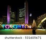 toronto   december  2016   ... | Shutterstock . vector #531605671