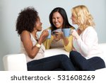 women having coffee. | Shutterstock . vector #531608269