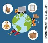 world wide cargo transport... | Shutterstock .eps vector #531608284
