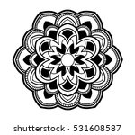round ornament  isolated design ... | Shutterstock .eps vector #531608587