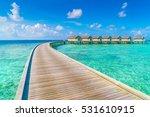beautiful water villas in... | Shutterstock . vector #531610915