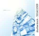 modern blue glass wall of... | Shutterstock .eps vector #531611509