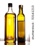 two bottles of pure fresh olive ... | Shutterstock . vector #53161213
