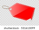 red shining blank tag ... | Shutterstock .eps vector #531613099