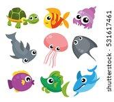 ocean life character design | Shutterstock .eps vector #531617461
