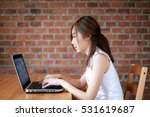 confident young woman in smart... | Shutterstock . vector #531619687