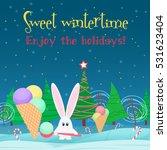 christmas card background.... | Shutterstock . vector #531623404