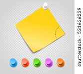 color pins and paperclip... | Shutterstock .eps vector #531626239