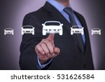 human hand touching car... | Shutterstock . vector #531626584