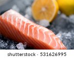 fresh salmon   | Shutterstock . vector #531626995