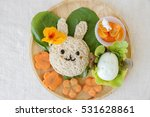 easter bunny lunch  fun food... | Shutterstock . vector #531628861