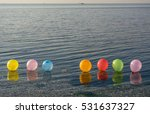 colorful balloons in seawater...   Shutterstock . vector #531637327