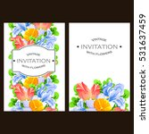 vintage delicate invitation... | Shutterstock .eps vector #531637459
