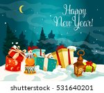 new year gift boxes greeting... | Shutterstock .eps vector #531640201