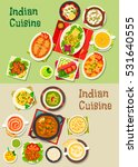 indian cuisine icon with turkey ... | Shutterstock .eps vector #531640555