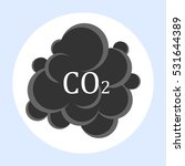 co2 carbon dioxide cloud... | Shutterstock .eps vector #531644389