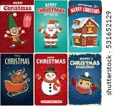 vintage christmas poster design ...   Shutterstock .eps vector #531652129