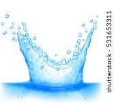 water splash in light blue... | Shutterstock . vector #531653311