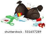 dirty trash bags and rotten... | Shutterstock .eps vector #531657289