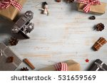 vintage photo camera on... | Shutterstock . vector #531659569