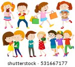 children and people doing... | Shutterstock .eps vector #531667177