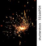closeup view of burning sparkler | Shutterstock . vector #53166934