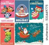 vintage christmas poster design ... | Shutterstock .eps vector #531669775