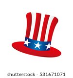 usa hat isolated icon vector... | Shutterstock .eps vector #531671071