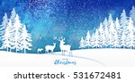 merry christmas snow winter...   Shutterstock .eps vector #531672481