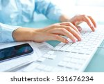female hands or woman office... | Shutterstock . vector #531676234