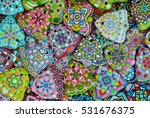 christmas decoration   colorful ... | Shutterstock . vector #531676375