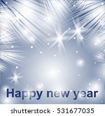 new year background  silver... | Shutterstock .eps vector #531677035