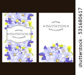 invitation with floral... | Shutterstock .eps vector #531680617