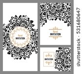 invitation with floral... | Shutterstock .eps vector #531680647