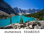 moraine lake banff alberta   Shutterstock . vector #531682315