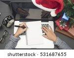 business woman hand writing... | Shutterstock . vector #531687655