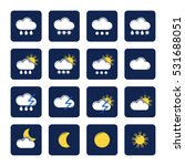 set of colored flat icon ... | Shutterstock .eps vector #531688051