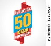 50 years anniversary... | Shutterstock .eps vector #531689269