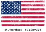 grunge usa flag.vintage... | Shutterstock .eps vector #531689395