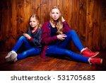 modern generation. two cute... | Shutterstock . vector #531705685