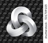triple mobius loop impossible... | Shutterstock .eps vector #531709105