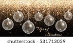 christmas ball ornament. new... | Shutterstock .eps vector #531713029