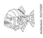 Steampunk Style Piranha Fish....