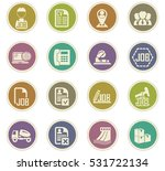 job icon set for web sites and... | Shutterstock .eps vector #531722134
