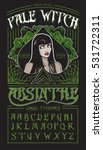 """pale witch""   absinthe label... 