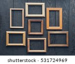 vintage frames on old wooden... | Shutterstock . vector #531724969