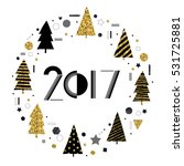 2017 new year. cute ... | Shutterstock .eps vector #531725881