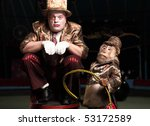 Circus Clown With A Monkey....