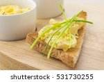 toasted bread with egg and... | Shutterstock . vector #531730255